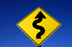 Curves Ahead Stock Photography
