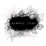 Curves Cloud Black And White. Lace Curves Black And White Banner Royalty Free Stock Photography