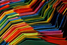 Curves. Colorful origami bases put one in other Stock Images