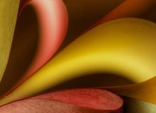 Curves of colour. Colourful Abstract of curves and lines Stock Image