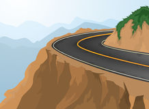 Curves and deep abyss. Road and nature background Royalty Free Stock Images