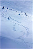 Curves. Freeride curves in the mountains Stock Image