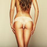Curves girl back, without cellulite Royalty Free Stock Photography
