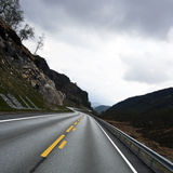 Curves in landscape. Long curves in Norway , E6 federal Highway Stock Photo