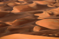 Curves of Liwa desert Royalty Free Stock Photos
