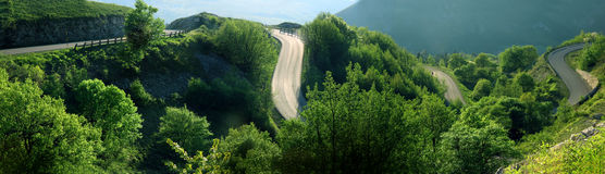 Curves of mountain. Road in Italy Stock Images