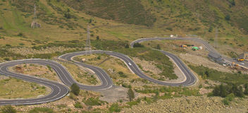 Curves on the mountain road Stock Photography