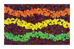 Curves with Polychromatic Bubbles Royalty Free Stock Photography