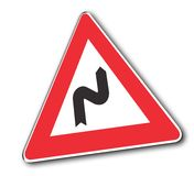 Curves Sign. Street sign attention curves Stock Photography