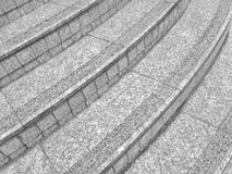 Curves and straight lines intersect with the steps of multi-step stairs. With gray patterns for background and architecture Royalty Free Stock Photos