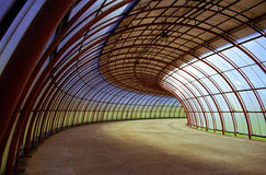 Curves tunnel. Taken in Curitiba, south of Brazil royalty free stock photo