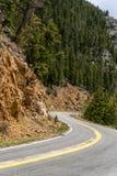 Curvey дорога горы Стоковое Фото