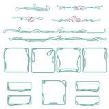Curvi la linea strutture e linee di demarcazione nello stile di art deco Illustrazione di Stock