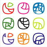 Curvilinear icons Stock Photography