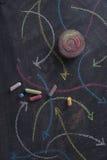 Curvilinear kulöra pilar Royaltyfria Bilder