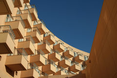 Curving Balconies. A modern apartment building in Luxor, Egypt Royalty Free Stock Image