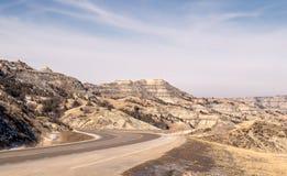 Curving blacktop through canyons Stock Photography