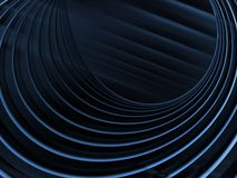 Curving Blue Bands Abstract Stock Photo