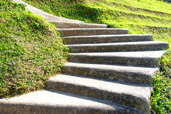 Curving Cement Stairway Stock Photography