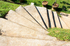Curving Cement Stairway Stock Image