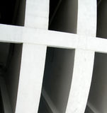 Curving concrete design. Abstract in Mexico royalty free stock photo