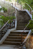 Curving Concrete Stairway At Outdoor Public Park Royalty Free Stock Image