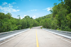 Curving Country Road Stock Photography
