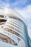 Curving Cruise Ship Decks Rising Into Sky Stock Image