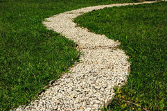 Curving garden path Royalty Free Stock Photo