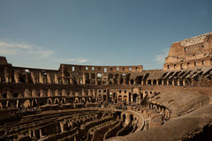 Curving interior walls of Colosseum. Stock Images