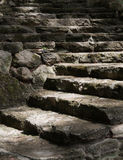 Light trail up ancient steps Stock Photography