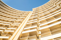 Curving lines of building. Royalty Free Stock Photos