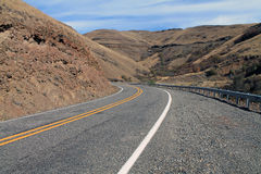 Curving Mountain Road in eastern Washington Stock Image