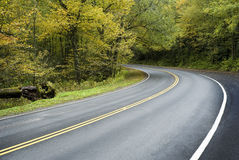 Curving Mountain Road Stock Photography