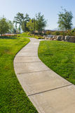 Curving Neighborhood Sidewalk Royalty Free Stock Photo