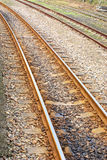 Curving Rail Track . Royalty Free Stock Image