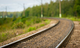 Curving Railroad Track Stock Image