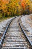 Curving Rails Stock Photo