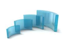 Curving rectangles Stock Photos