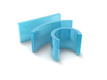 Curving rectangles Royalty Free Stock Image