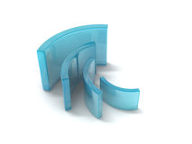 Curving rectangles Royalty Free Stock Photography