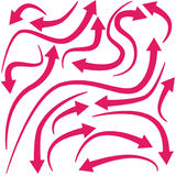 Curving Red Arrows. Assortment of curving red arrows Royalty Free Stock Image