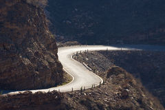Curving road stock image