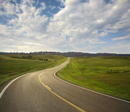 Curving road in the Black Hills of South Dakota Royalty Free Stock Image