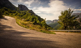 Curving Road in Canyon Stock Image