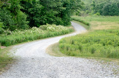 Curving road on a fun road trip Royalty Free Stock Photo
