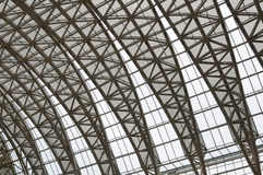 Curving roof trusses Stock Images