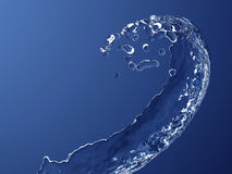 Curving splash of water Stock Photo