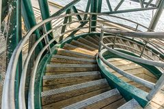 Curving Stairs From Above 2 Royalty Free Stock Images