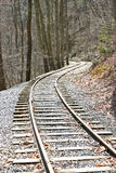 Curving Tracks Stock Photo